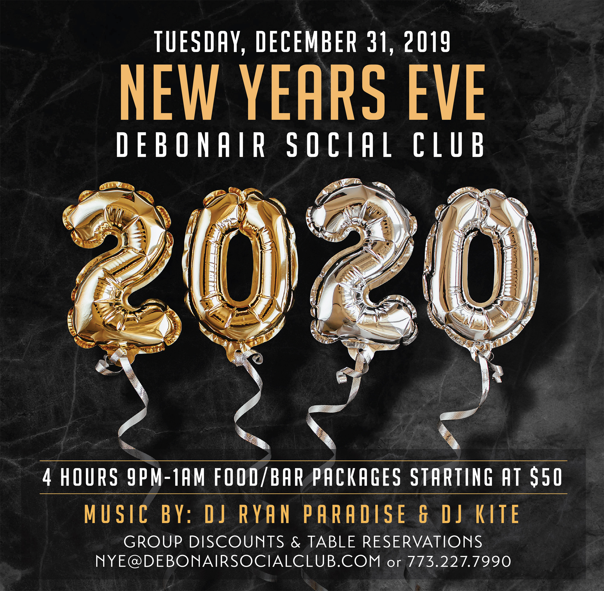 Debonair New Years Eve 2020 Facebook